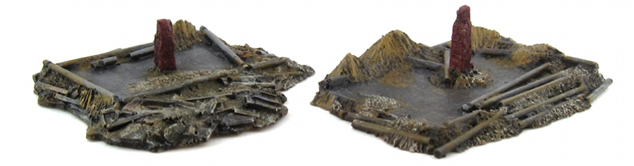 15mm Terrain - Wood Cabin Ruins 2