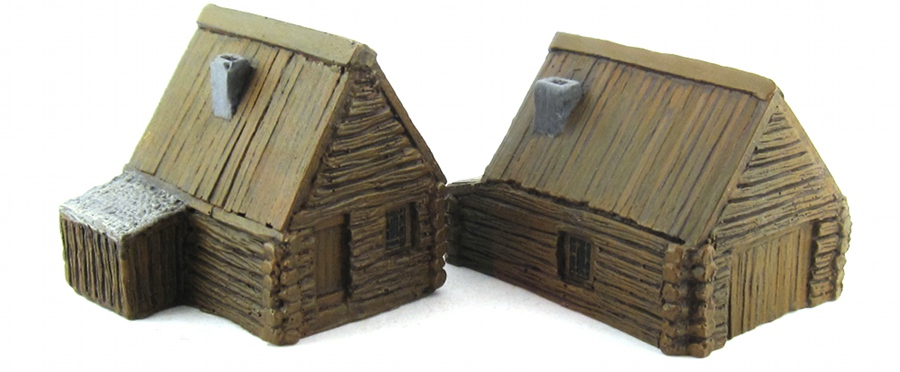 15mm Terrain - Wood Cabins 1