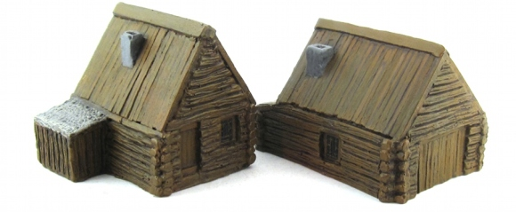 15mm Terrain - Wood Cabins 1