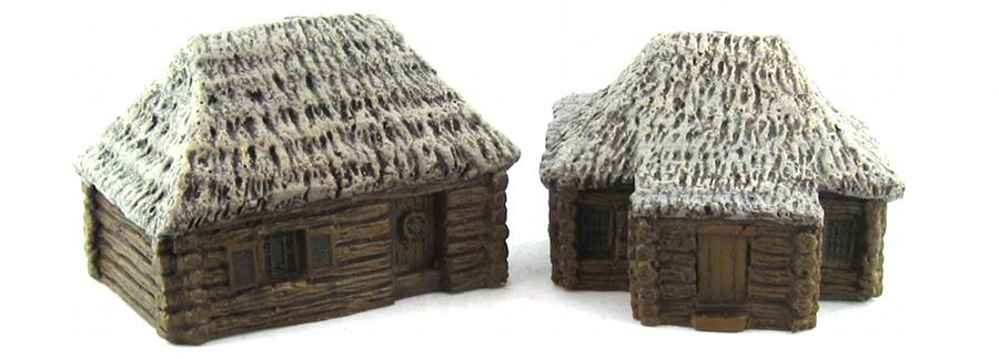 15mm Terrain - Wood Cabins 2