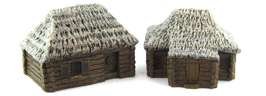 15mm Terrain - Wood Cabins 2