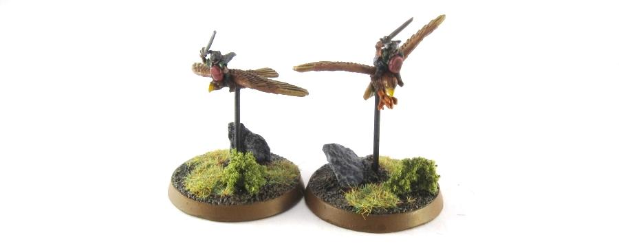 WM Wood Elf - Nobles on Warhawks