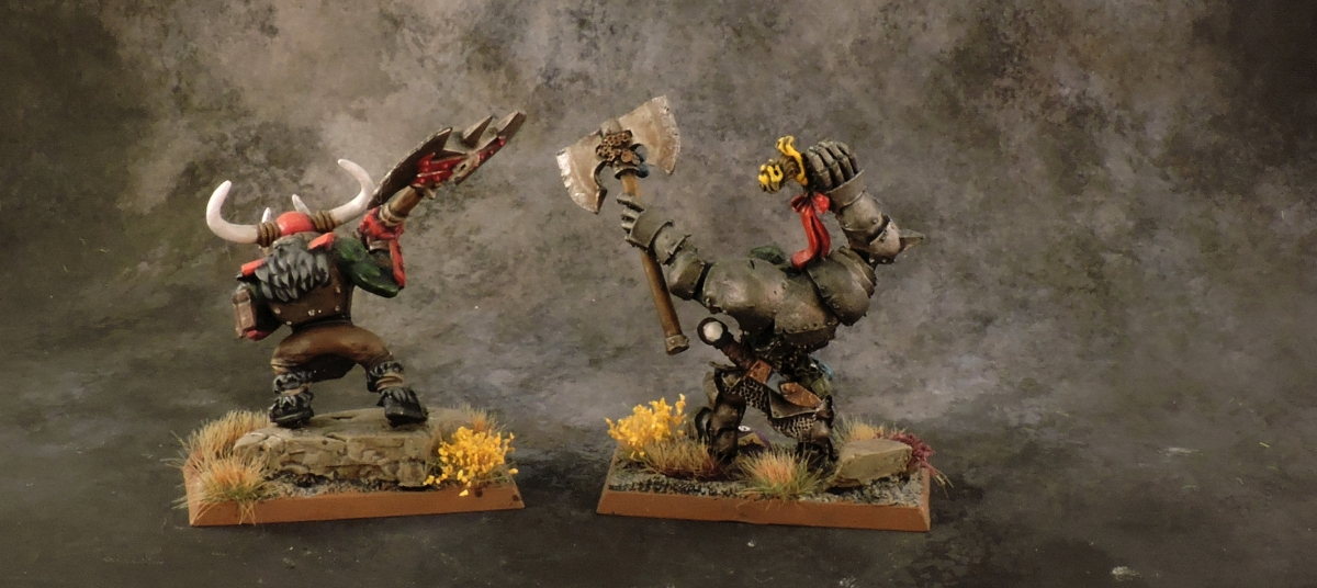 WFB Orcs - Black Orc Warbosses Rear