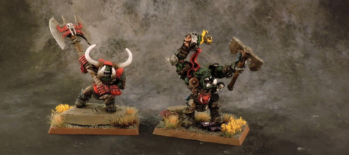 WFB Orcs - Black Orc Warbosses