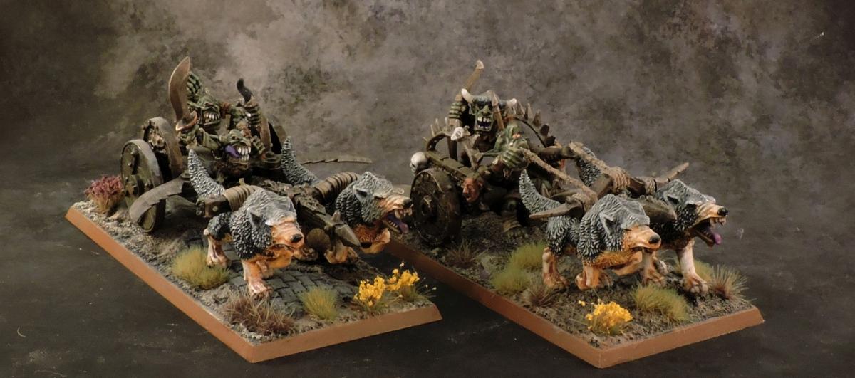 WFB Orcs - Goblin Chariots