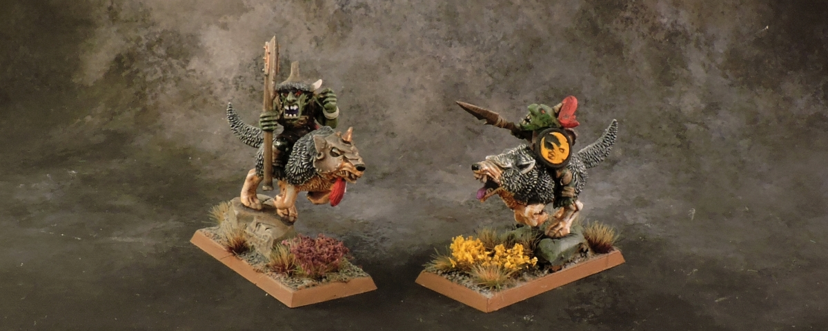 WFB Orcs - Goblin Wolf Big Bosses