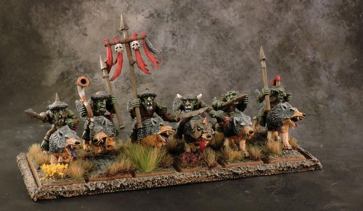 WFB Orcs - Goblin Wolf Riders