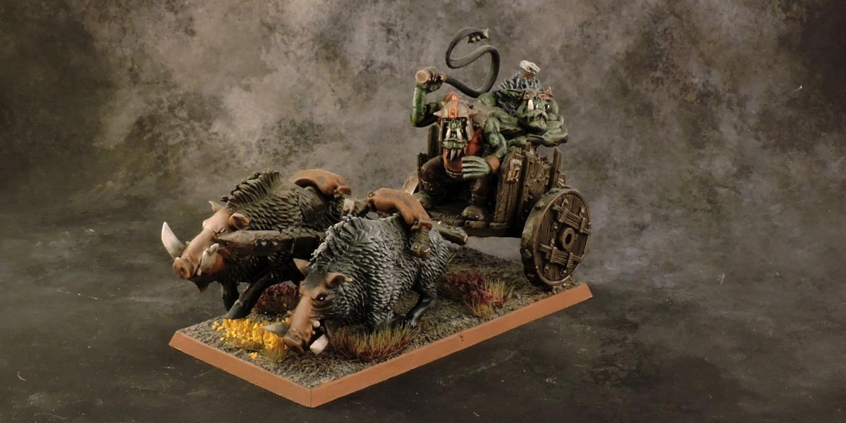 WFB Orcs - Orc Chariot 1