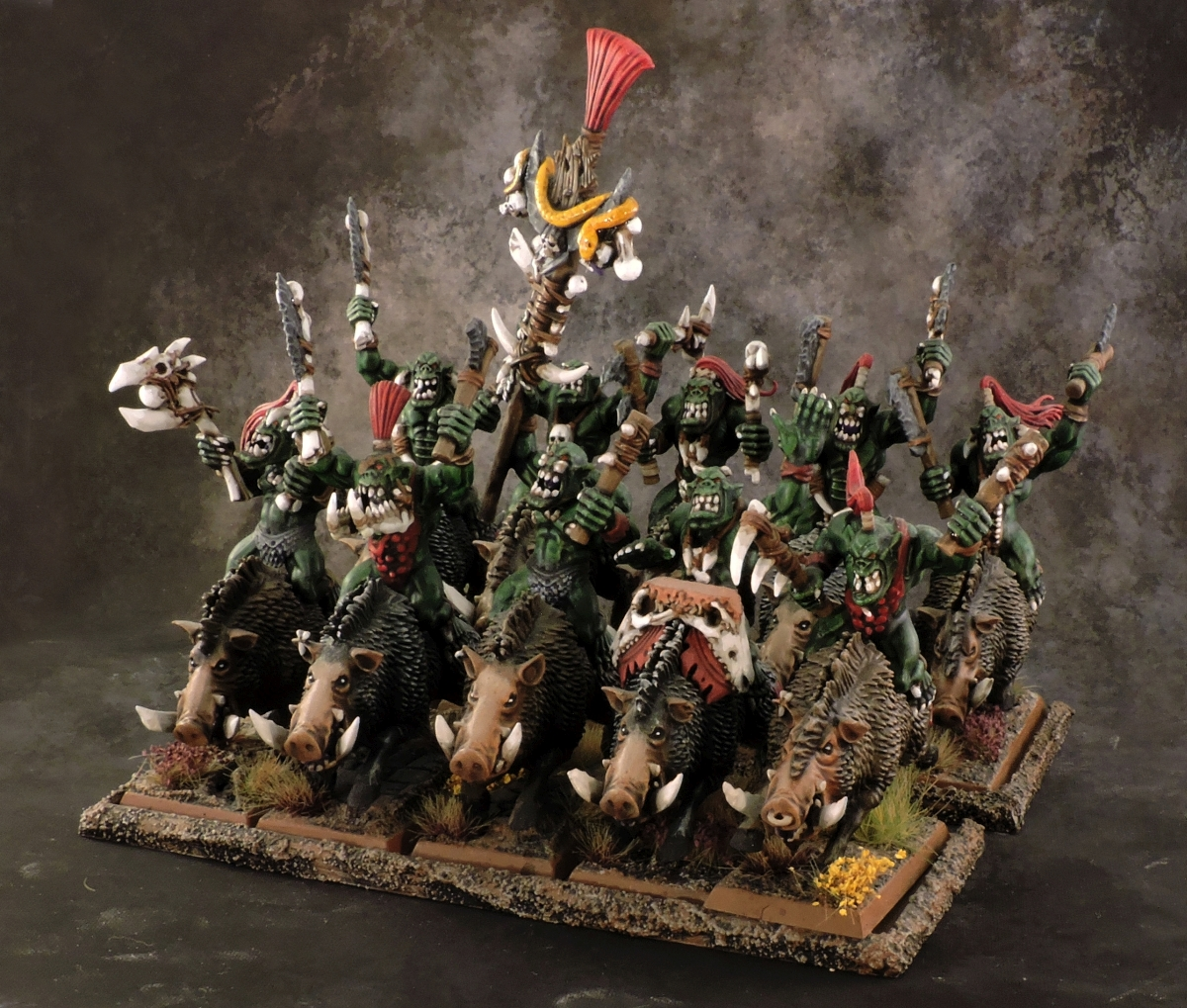 WFB Orcs - Savage Orc Boar Boyz