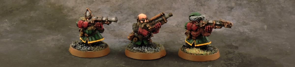 Mordheim Dwarves - Gunners